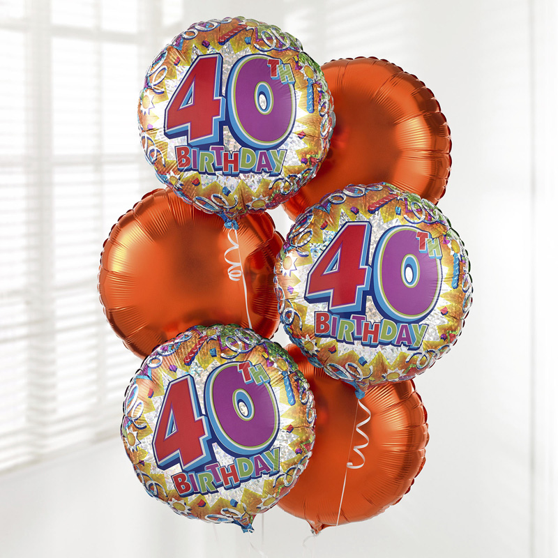 40th Balloon Bouquet