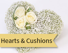 hearts and cushions feature